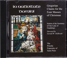 In Nativitate Domini CD Gregorian Chants Masses Christmas Priestly Fra St Peter
