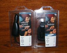 Samsung T-Mobile Vehicle Power Charger & Holster For Samsung t619 **READ**