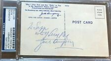 Rare Jack Dempsey Signed Boxing Restaurant Postcard PSA/DNA