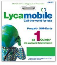 Anonym 10 x Lyca Mobile Prepaid Simkarte+2,50€ Guthab. Registriert Versand FREI