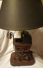 """wooden baby carriage lamp nursery 19"""" with shade"""