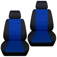 Fits 2003-2008 Mazda 3   front set car seat covers    black and dark blue