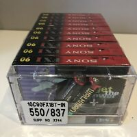 Rare New Sealed 10 Pack Sony FXI 90 Min Cassette Tapes & Walkman Batteries Power