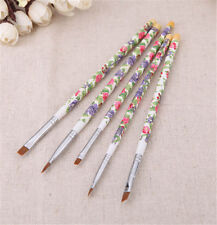 5pcs UV Gel Acrylic Nail Art Brush Painting Pen Wood Manicure Nail Design Tool