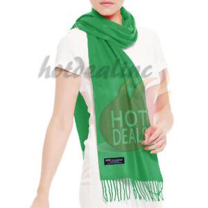 Men Women 100% CASHMERE Plain Scarves Winter Warm Scarf Made in Scotland