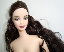Barbie Doll NUDE Jointed Elbows, Dark Curly Hair, Blue Eyes, Stunning! NEW!