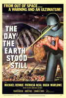 "Day The Earth Stood Still (1951) Style-A 27x40"" Vintage 50's Sci-fi Movie Poster"