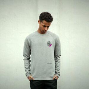 Mens Fleece Organic Cotton Sweatshirt Pullover Casual Adult Top Skeleton