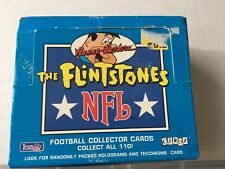 1993 The Flintstones NFL Football Collector Cards Box with Lots of Cards