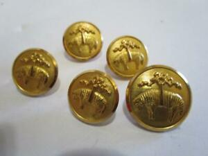 Vintage Brooks Brothers Waterbury Sheep Logo Gold Fleece Shank Button Lot of 5