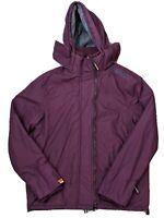 Mens Superdry Hooded Arctic Windcheater Zip Jacket Port/Grey Marl - Size Large