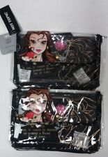 2 Pack Beauty and the Beast 2 Piece Makeup Bag
