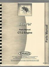 Stover Ct-2 Engine Operators Owners Manual Parts Catalog