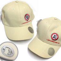 Geburtstags-Cap Cappy Mütze mit integriertem Flaschenöffner (40./50. Geburtstag)