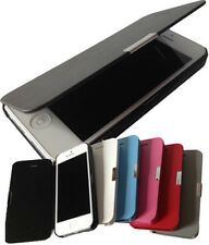 Magnetic Flip Hard Case Cover PU Leather Pouch Wallet For iPhone 5 5S
