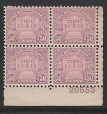 701 VF-XF never hinged plateblock with nice color cv $ 250 ! see pic !
