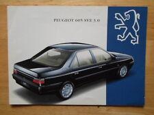 PEUGEOT 605 SVE 3.0 1994 orig UK Market sales brochure