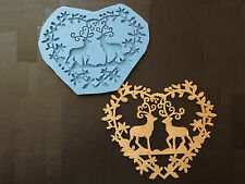 Large Christmas Stag Reindeer Silicone Mould, Cake Topper Decoration food safe