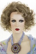 Medium Length Blonde Brunette Red Wavy Curly Wigs