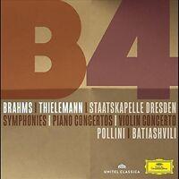 BRAHMS SINFONIEN/OUVERTUREN/KLAVIERKONZERTE 3 CD + DVD NEU