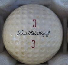 (1) TOM WEISKOPF SIGNATURE LOGO GOLF BALL ( MACGREGOR VULCANIZED CIR 1962) #3/3