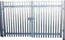 1.8m high x 4mtr Wide Double Leaf Palisade gate c/w. SHS Gateposts - Galvanised