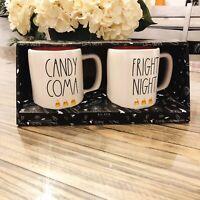 Rae Dunn Candy Coma & Fright Night Coffee Mug Set Halloween Fall 2020 Collection