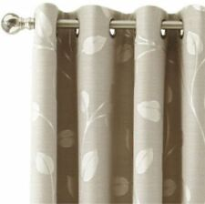 "*MarthaWindow Hampton Leaf Grommet-Top Curtain Panel 50""x63""L Sullivan Khaki NEW"