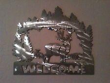 "Plasma cut Deer ""Welcome Sign"" metal Wall Decor"