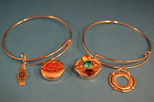 Lot of 2 HOOPS - CHARMS NOOSA CHARM BRACELETS  New Jewelry USA SELLER chunk snap