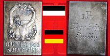 SCHWIMMEN MEDAILLE  * DSV GAUFEST SCHWÄBISCH GMÜND 1922 * 1. RÜCKENSCHWIMMEN