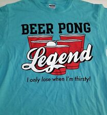 Beer Pong Legend T-Shirt Mens Womens Cups Drinking Game Adult Size Medium