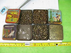 vintage / prewar meccano mixed lot tins nuts & bolts model spares 549gm 2005