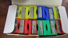 New Plastic Pencil Sharpener School Smart 24 Pack Assorted Bright Colors 1 Hole