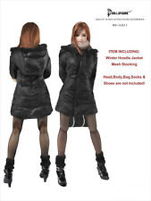 CC211 1/6 Clothing-Black Female Winter Hoodie Jacket set @HOT TOYS,CY COOL GIRL