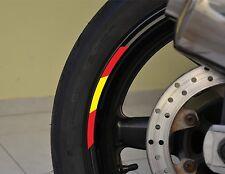 "4x SPAIN RIMS WHEELS VINYL STICKER STRIPES FLAG RIM FOR 17"" WHEEL MOTORCYCLE"