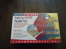 NEW PCI I/O CARD SINGLE FAST ECP/EPP PARALLEL PORT FOR CAMOLOT #36795 CYBER PARA