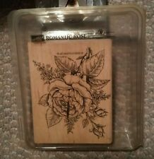 Vintage Stampin Up 1998 Romantic Rose Stamp in Case