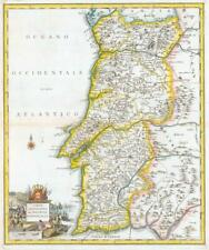 1740 Antique Map - PORTUGAL Carta Geographica del Regno di Portogallo (LM5)
