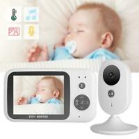 "Wireless Baby Monitor 3.2"" LCD 2.4G 2-Way Audio Video Security Camera Night View"