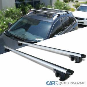 """53"""" Aluminum Roof Top Rail Rack Cross Bars Cargo Carrier Car Wagon SUV"""