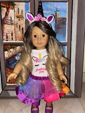American Girl doll ombré hair hazel eyes