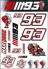 Marc Marquez Aufkleber - Sticker, 1 x 17 Stück (Set 5A)