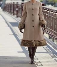 Women's Faux fur trim heavy Coat Jacket Winter Outerwear plus tag szie 3X&fit 4X