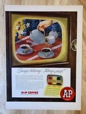Original Magazine  Print Ad 1951 A&P COFFEE Seeing Is Believing Tasting Proof