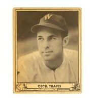 1940 Play Ball #16 Cecil Travis Washington Senators VG/EX no creases