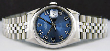 ROLEX - Mens SS 36mm Datejust Blue Concentric Arabic Dial - 16200 SANT BLANC