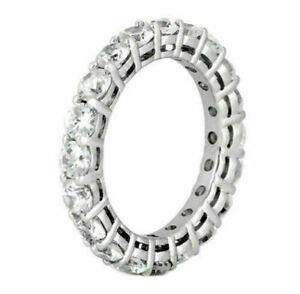 2.75 CT TW 100% Natural Round Diamond Eternity Wedding Band in 14k White Gold