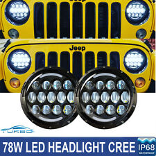 2x 7inch 156W Total LED CREE Headlight Hi/Lo Beam 97-16 Jeep Wrangler JK TJ LJ