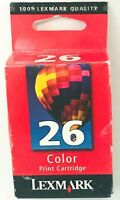 Genuine Lexmark 26 Color Printer Ink, New Sealed, NOT expired